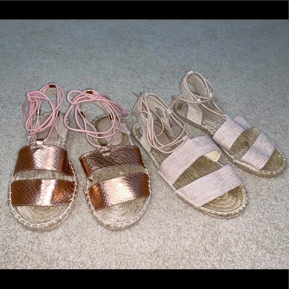ASOS Shoes - ASOS two-pack espadrilles lace up sandals